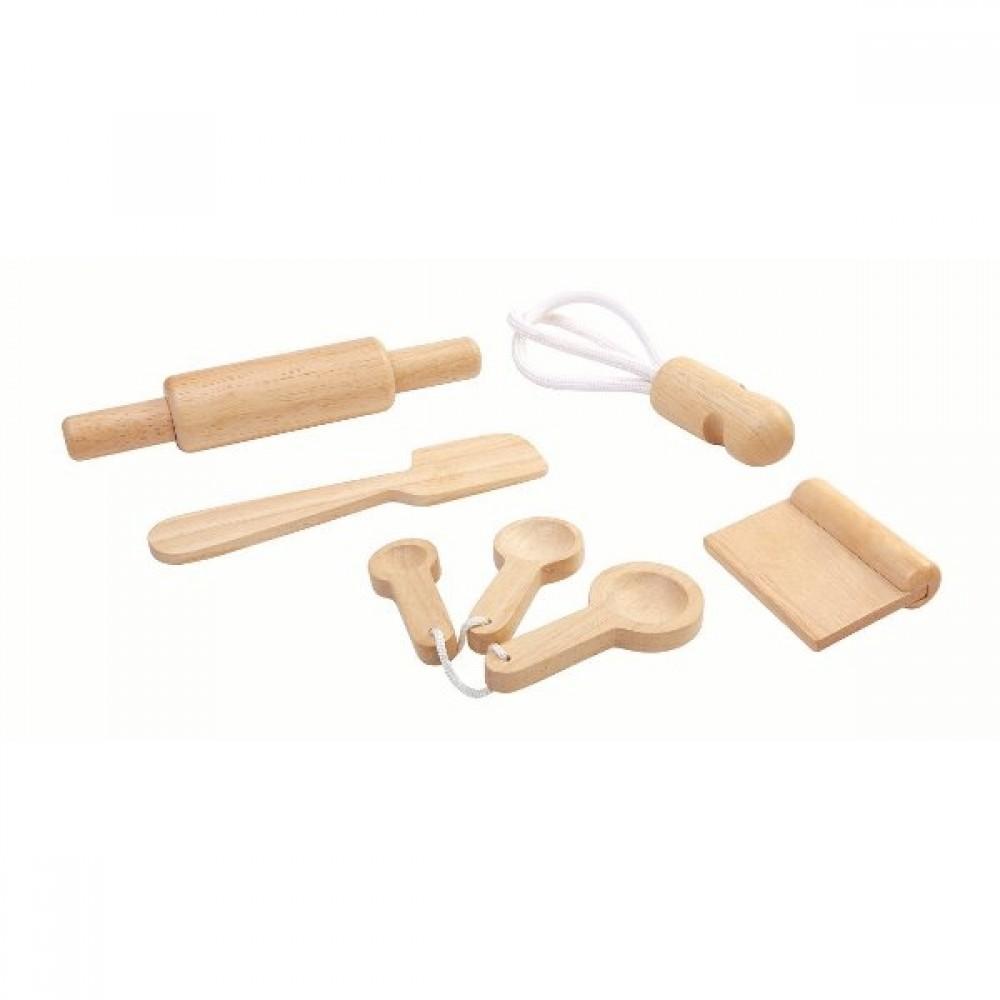 Plan Toys legemad i træ bagesæt-35