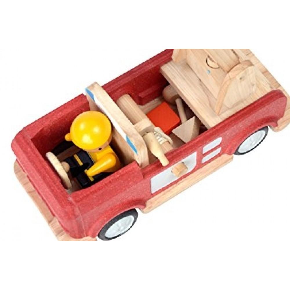 Plan Toys brandbil i træ-01