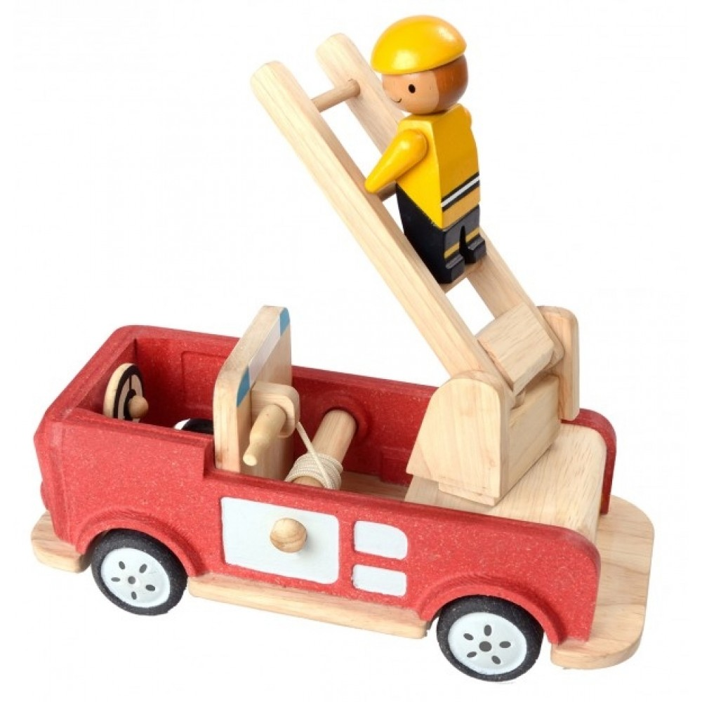 Plan Toys brandbil i træ-31