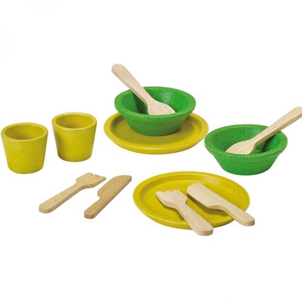 Plan Toys legemad i træ service sæt-36