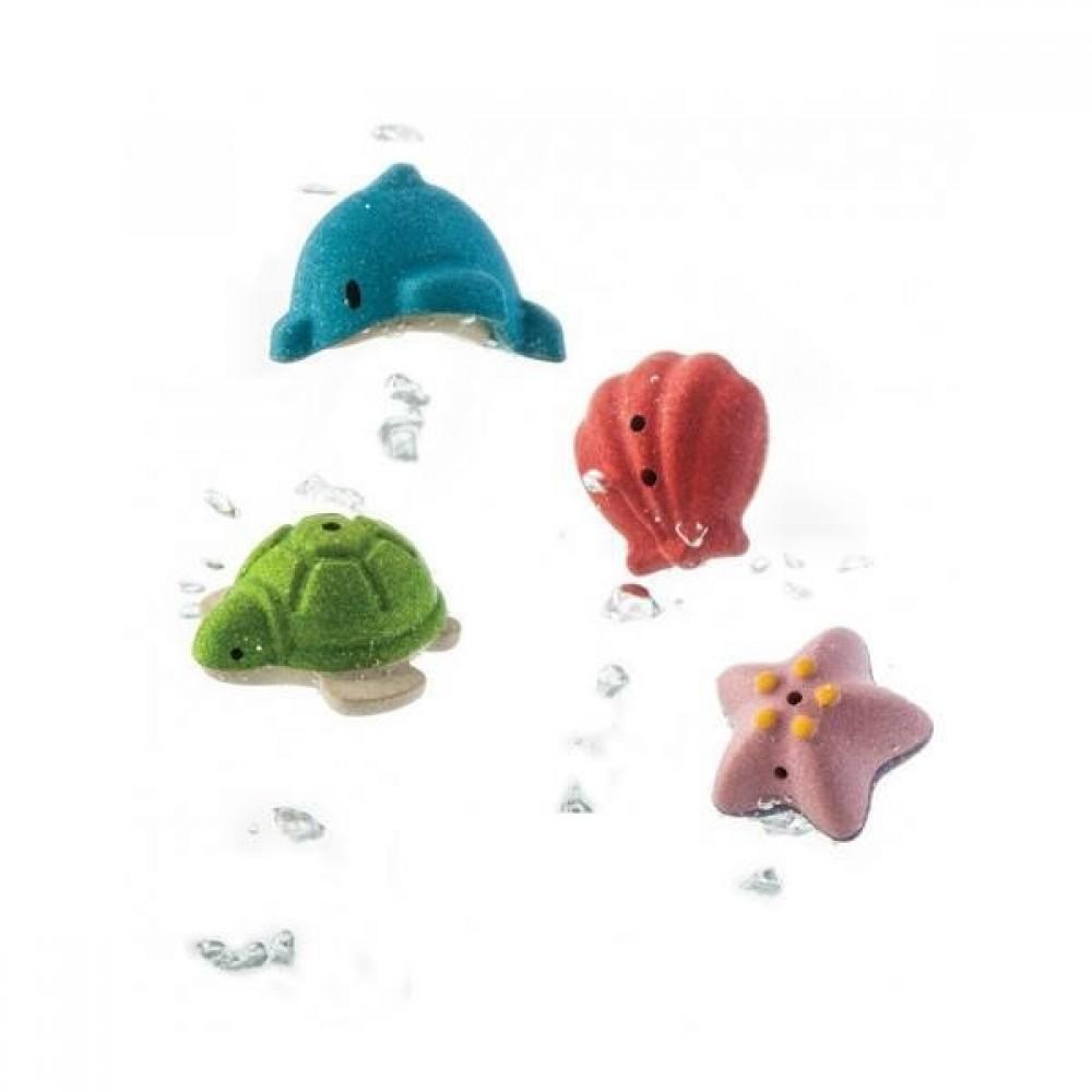 Plan Toys badesæt med 4 havdyr-31