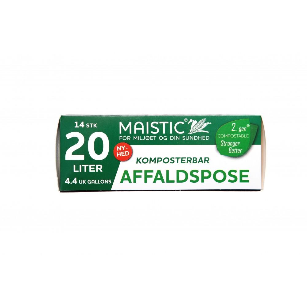 Maistic Bio Group plastfri skraldepose 20 liter 14 stk.-31