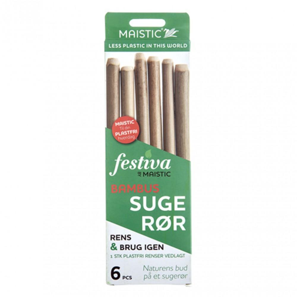 Maistic Bio Group sugerør bambus 6 stk.-31