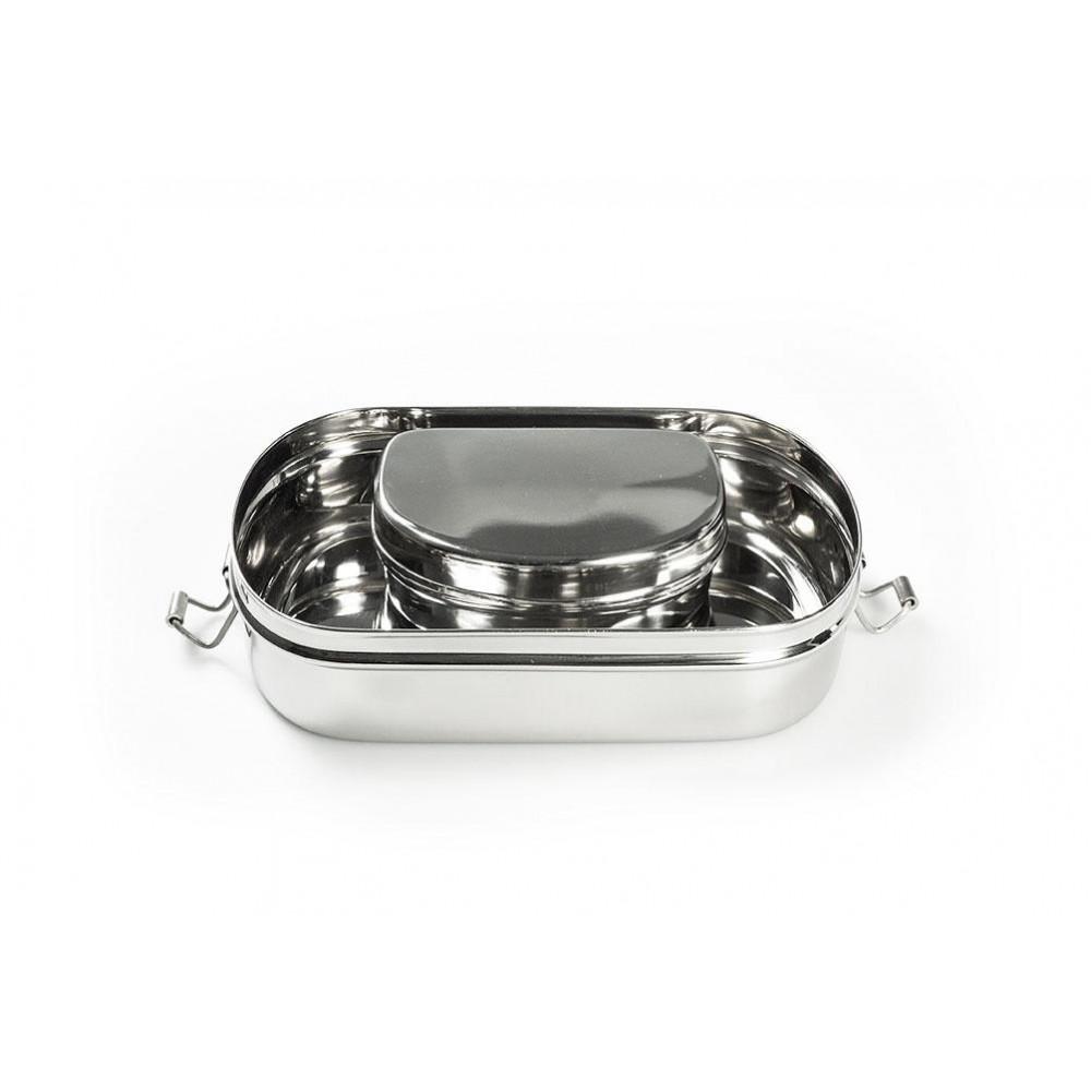 Pulito madkasse i stål 3-i-1 oval-01