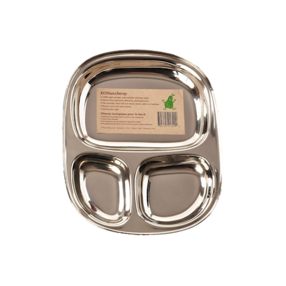 Pulito tallerken i 3 rum stål lille-31