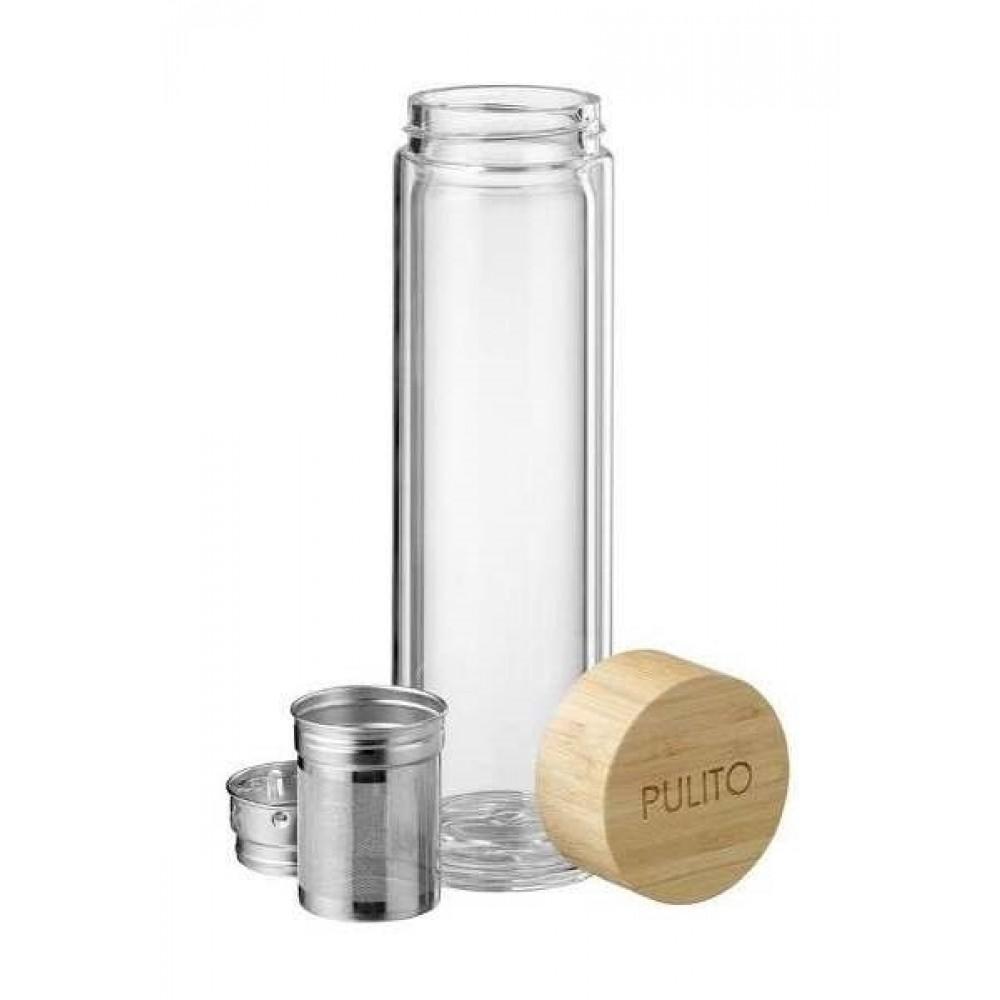 Pulito glas termoflaske med tesi 500 ml.-31