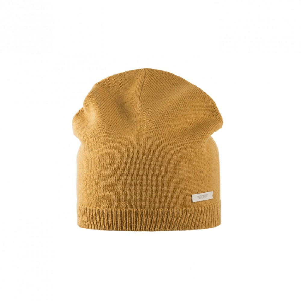 Pure Pure beanie til voksne merinould and kashmir amber-31