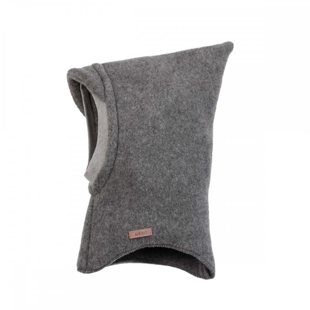 Pure Pure elefanthue økologisk uldfleece grå-32