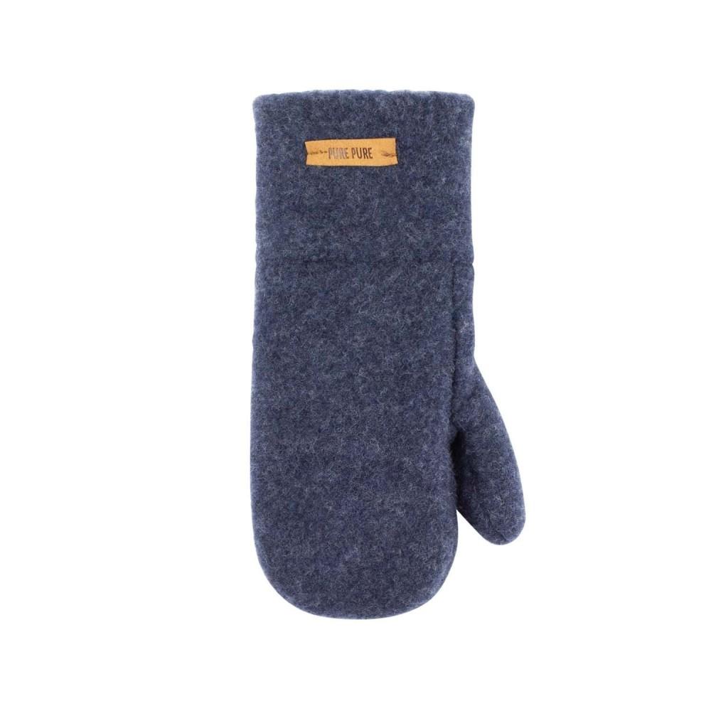 Pure Pure luffer økologisk uldfleece jeansblue-31
