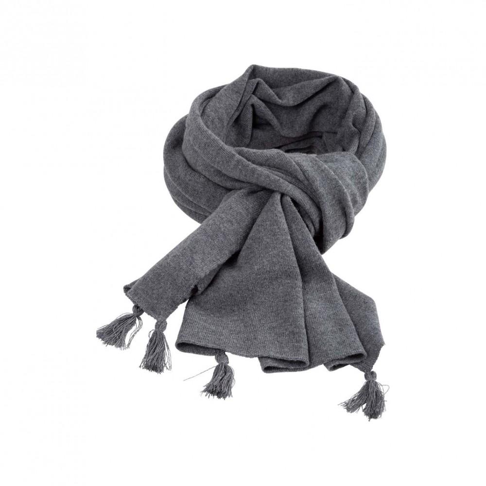 Pure Pure stort halstørklæde merinould and kashmir grå-31
