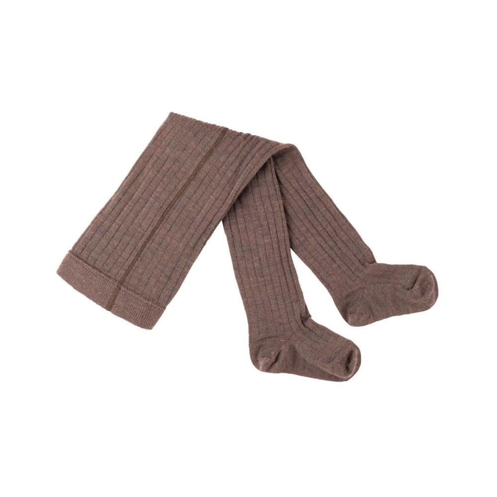 Pure Pure strømpebukser 80 % uld and bomuld GOTS hazelnut-31