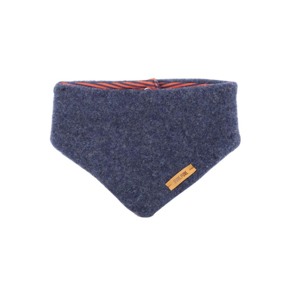 Pure Pure uldfleece tørklæde jeansblue-31