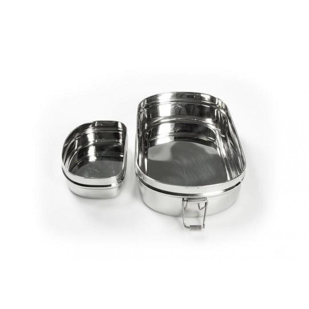 Pulito madkasse i stål 3-i-1 oval-31