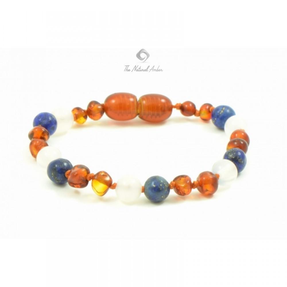 rav armbånd større børn rav/hvid agat/lapis lazuli-31