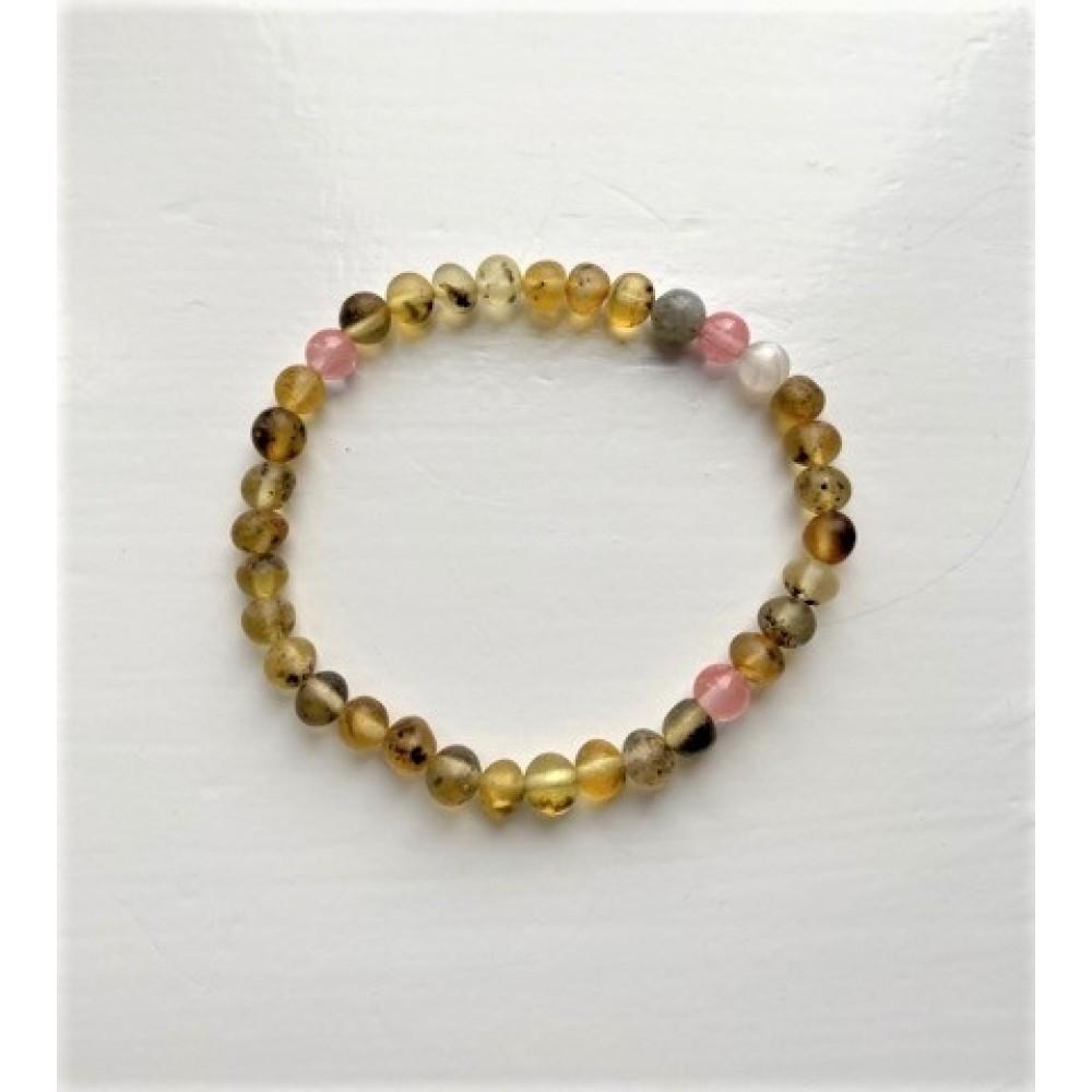 rav armbånd voksen rav/månesten/quartz/labradorit 18 cm.-01