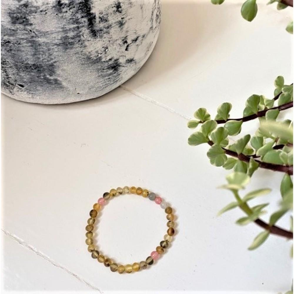 rav armbånd voksen rav/månesten/quartz/labradorit 18 cm.-31