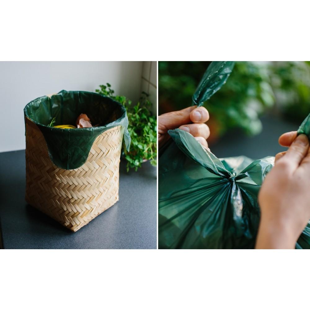 Maistic Bio Group plastfri skraldepose WaveCut 30 liter 10 stk.-01
