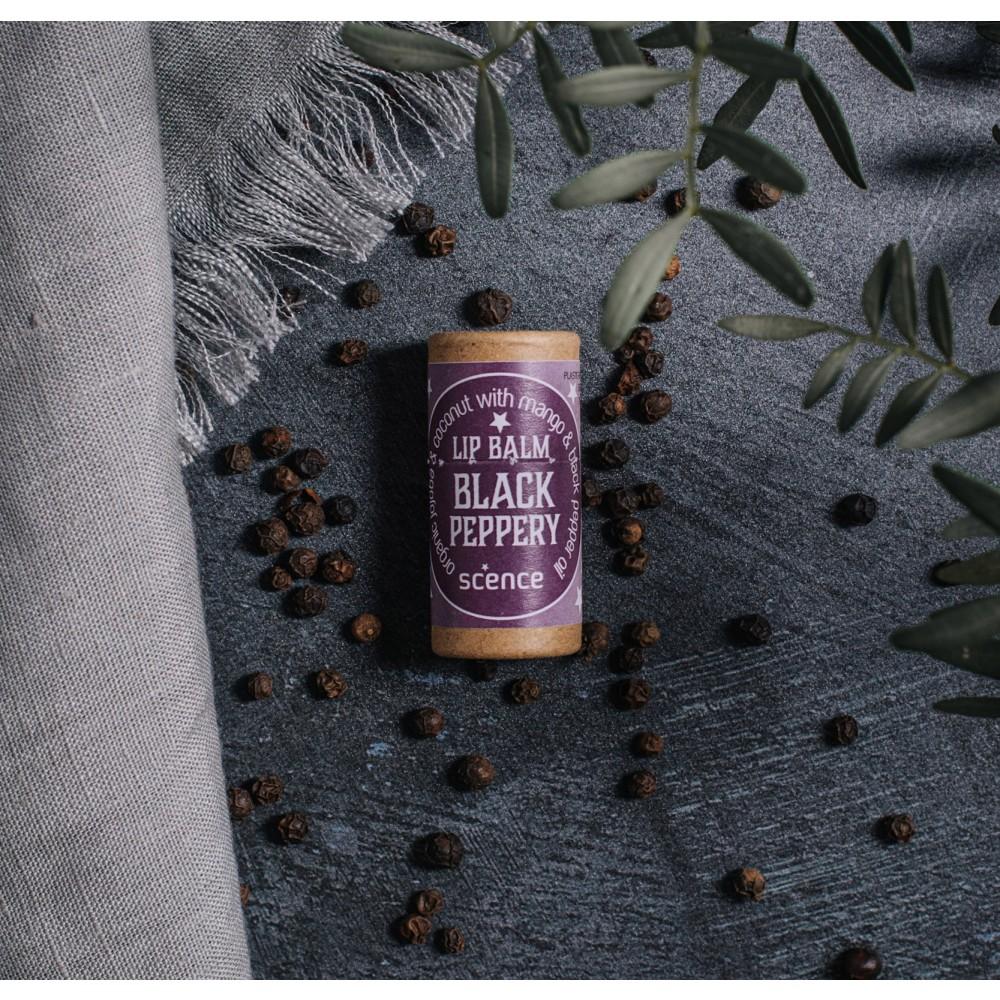 Scence økologisk and vegansk læbepomade black peppery-01