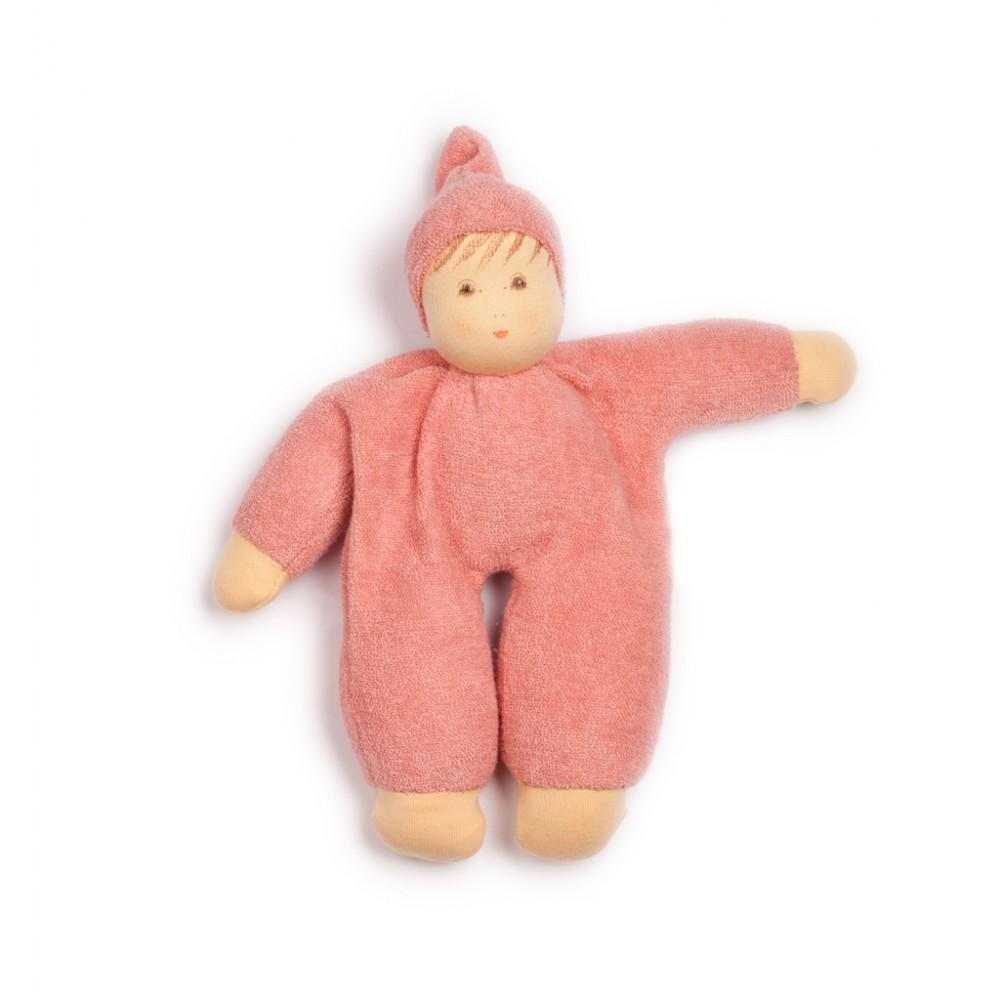Nanchen dukke 24 cm. støvet rosa-31