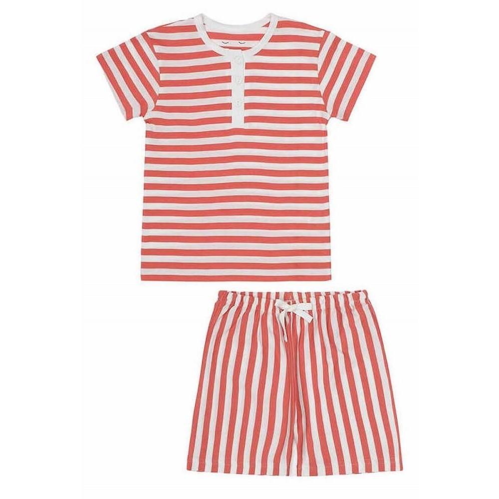 Snork Copenhagen Wilhelm pyjamas red seastripes-31