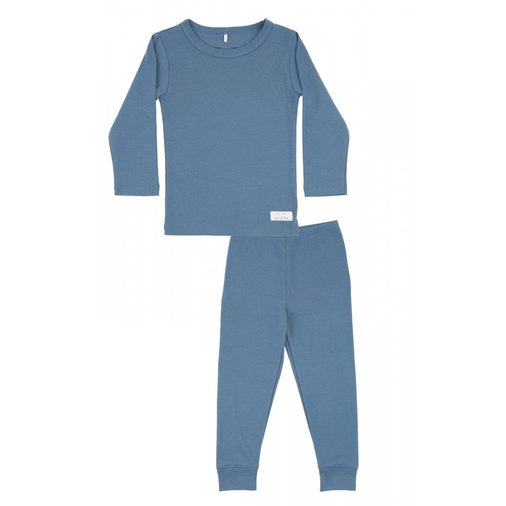 Snork Copenhagen pyjamas dusty blue-31