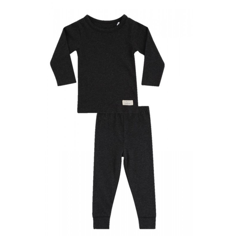 Snork Copenhagen pyjamas unisex black melange-31
