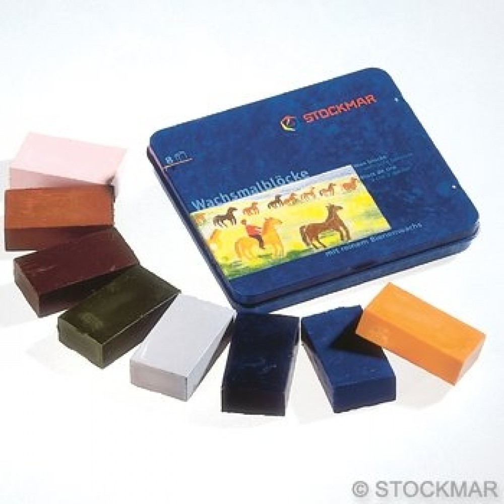 Stockmar bivoksfarver 8 bivoksblokke tillægsfarver-31