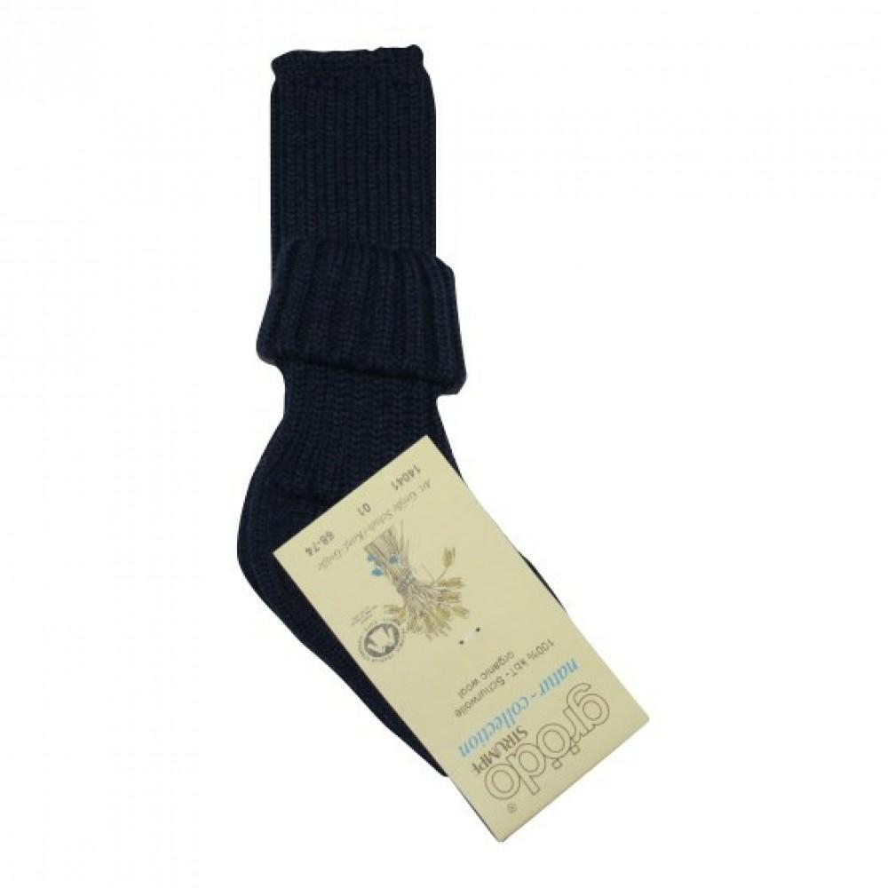 Grödo tyk uldsok med ekstra længde marineblå-01