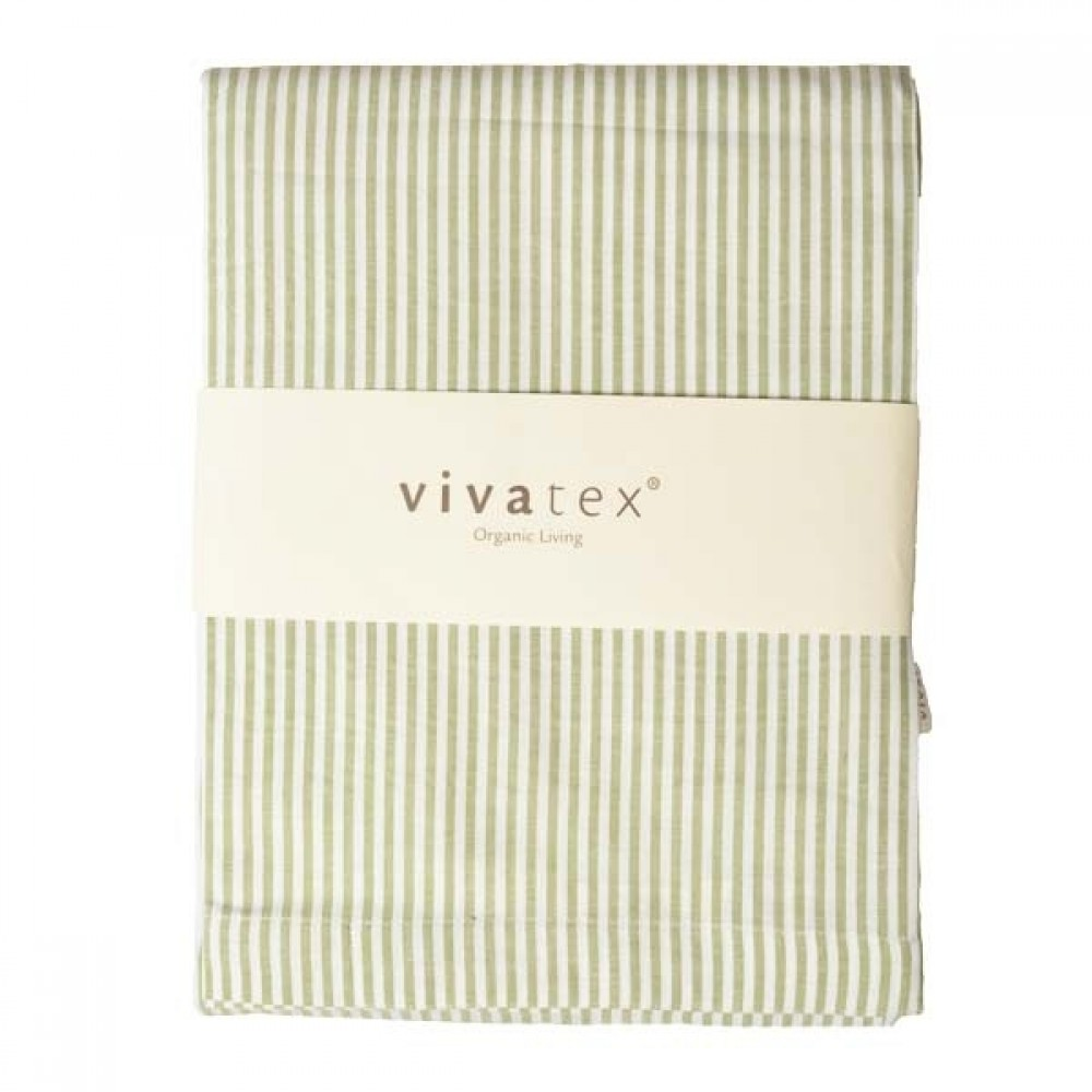 VivaTex sengesæt baby and junior grøn stribe-01