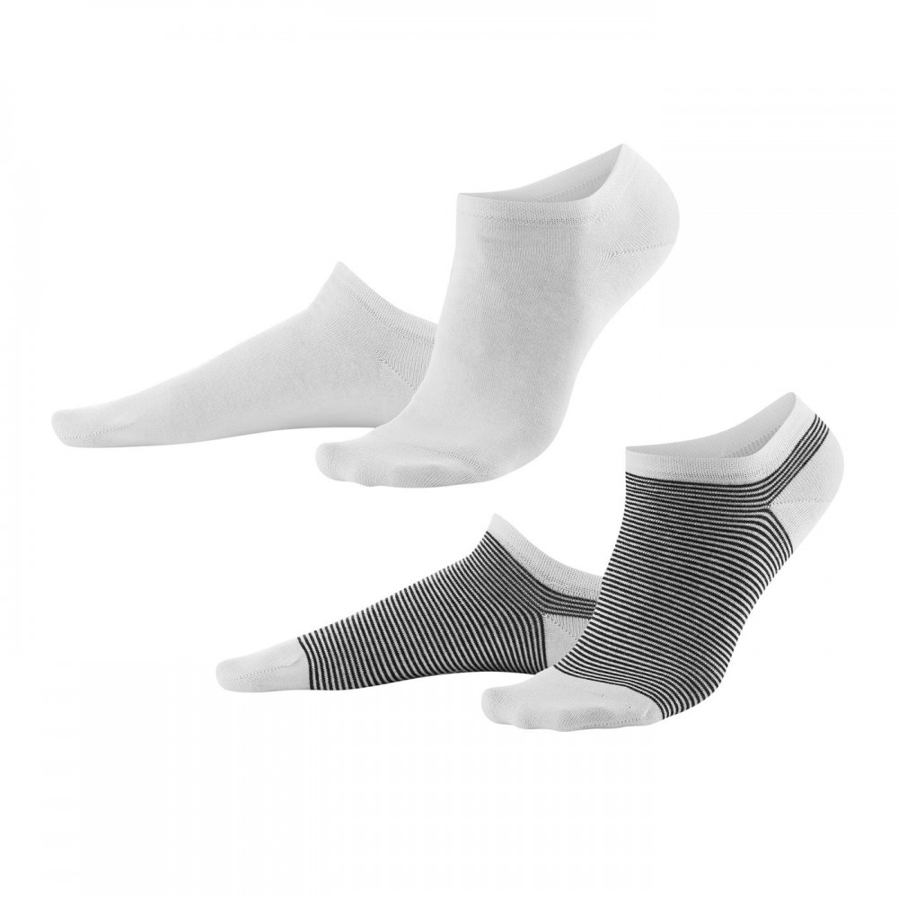 Living Crafts 2-pak sneakers strømper hvid og marinestribede-31