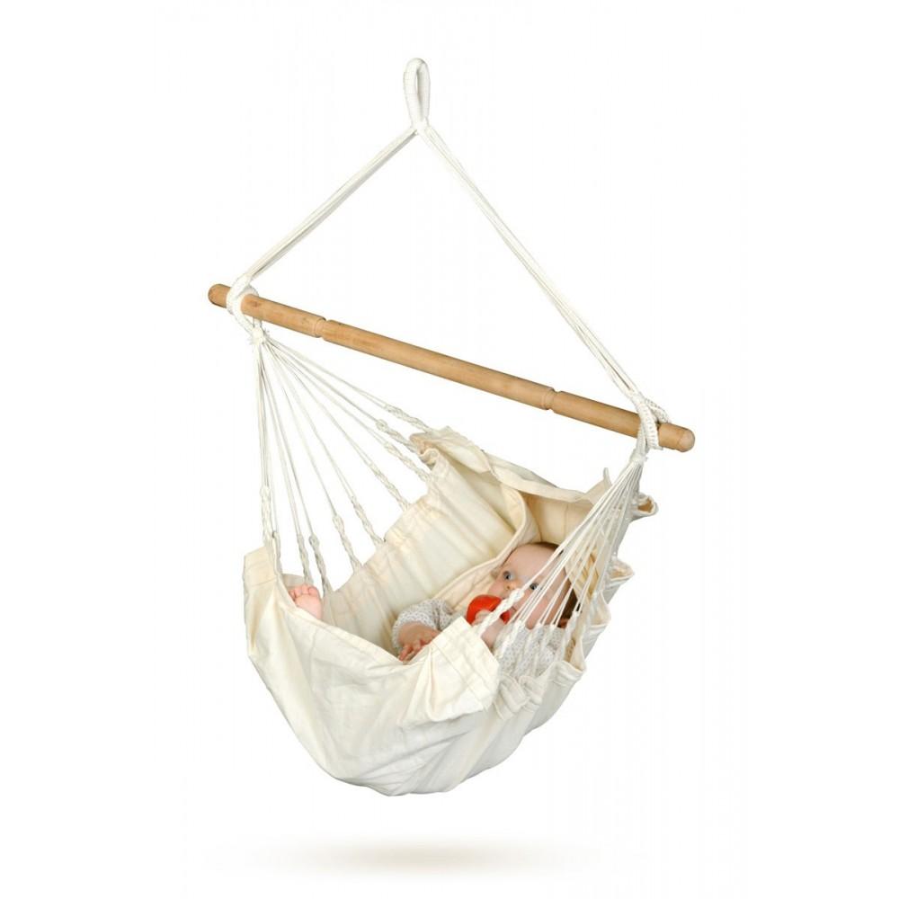 Babyhængekøje økologisk bomuld uden stativ-33