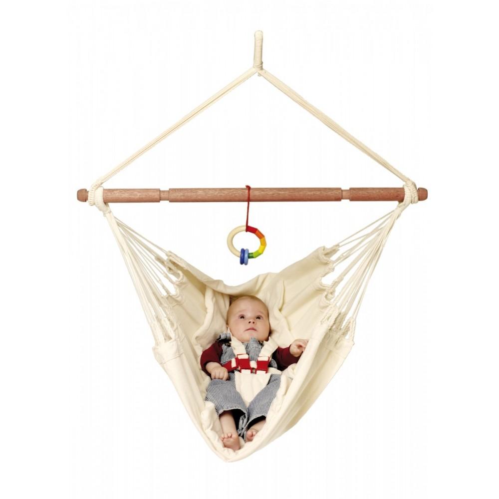 Babyhængekøje økologisk bomuld uden stativ-03