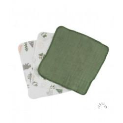 Popolini 3 små vaskeklude grønlige nuancer-20