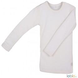 Iobio langærmet t-shirt uld and silke GOTS natur-20