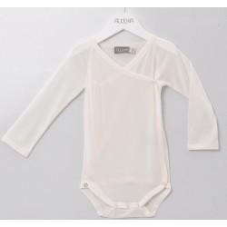 Alkena langærmet kimonobody økologisk silke natur-20