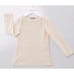 Alkena langærmet bluse bourette silke natur-20