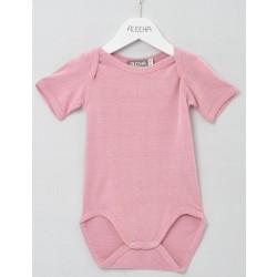 Alkena kortærmet body bourette silke støvet rosa-20