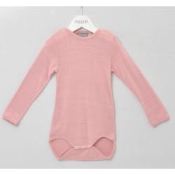 Alkena langærmet body bourette silke støvet rosa (ny udg.)-20