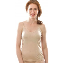 Alkena top økologisk silke nude-20