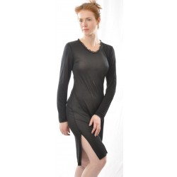 Alkena natkjole økologisk silke sort-20
