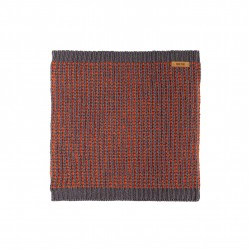 Pure Pure halsedisse uld/silke/bomuld grå/terracotta-20