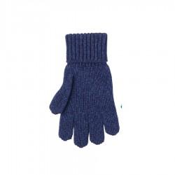 Pure Pure fingerhandsker uld/silke/bomuld marineblå-20