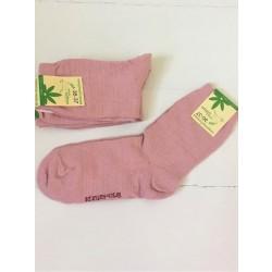 Hirsch strømper bomuld and hamp rosa-20
