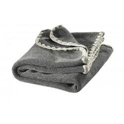DISANA babytæppe økologisk uld antrazit/grå melange-20