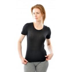 Alkena kortærmet t-shirt økologisk bomuld sort-20