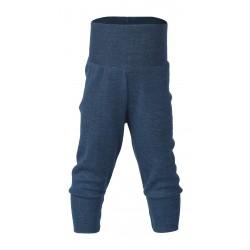 Engel babybukser uld blå melange-20