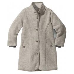 DISANA | lang uldjakke | kogt uld | grå-20