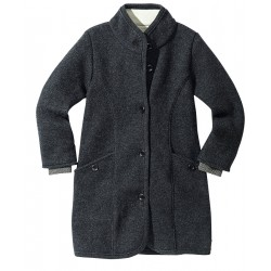 DISANA | lang uldjakke | kogt uld | koksgrå-20