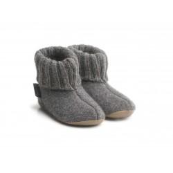 Haflinger indesko karlo uld naturgummisål antracitgrå-20