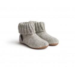 Haflinger indesko karlo uld naturgummisål grå-20